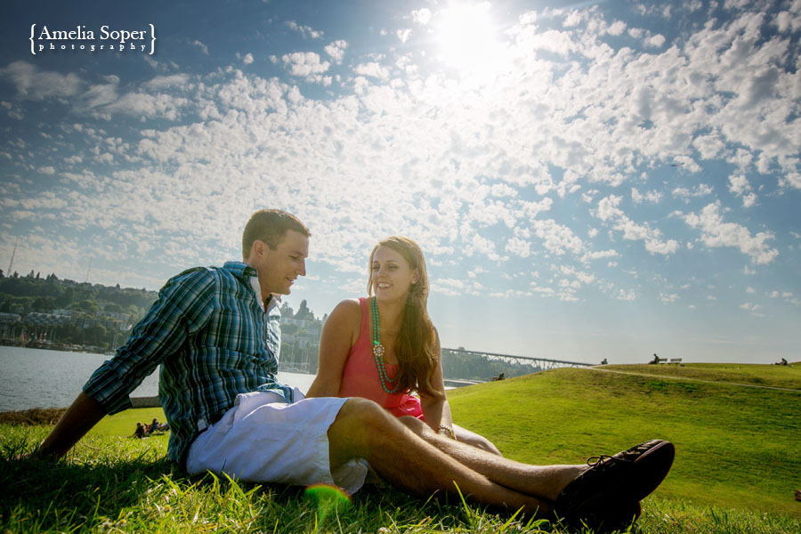Payton + Chris | Seattle Engagement Session | Gasworks Park & Dick's Burgers!