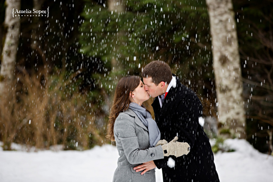 Whitney + Zach | Snowy Winter Engagement