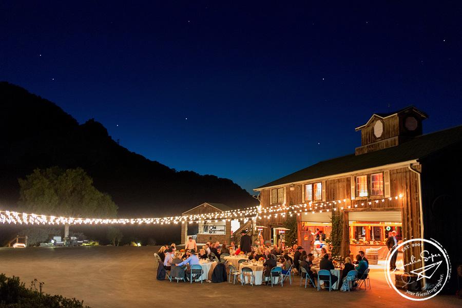 Destination Holland Ranch Wedding in San Luis Obispo, CA. Wedding reception.