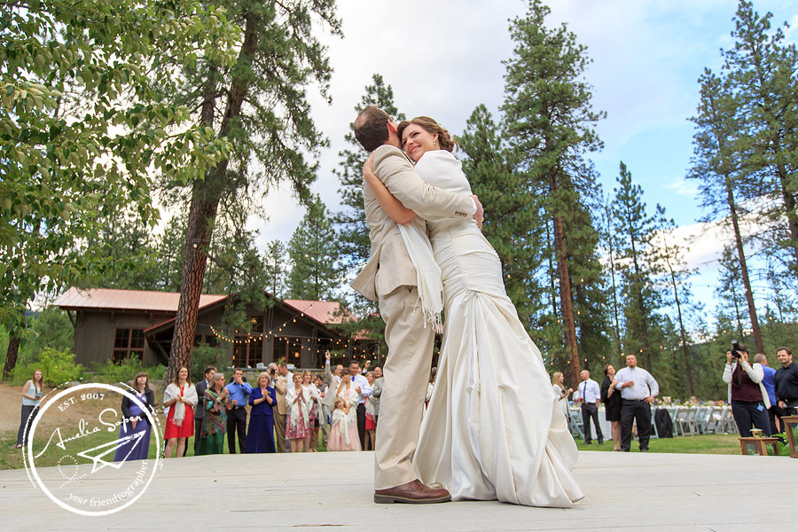 Rustic Leavenworth Wedding at Sleeping Lady Resort First Dance