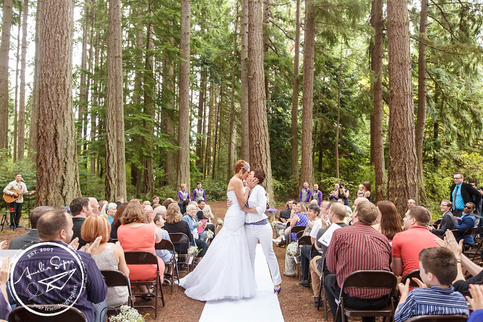 TBT: Angie + Molly | Rustic Kitsap Memorial State Park Wedding