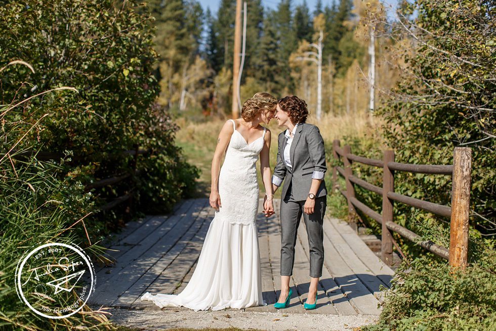 Mountain Springs Lodge Wedding in Leavenworth, WA PNW LGBT same sex couple