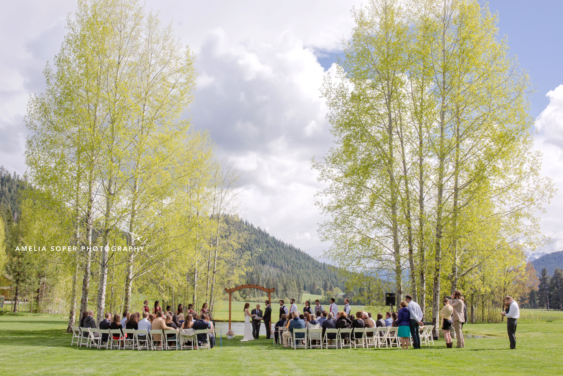 Wedding at Mountain Springs Lodge