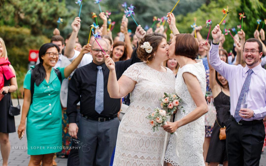 Erin & Sarah's Intimate Seattle University & Sole Repair Wedding