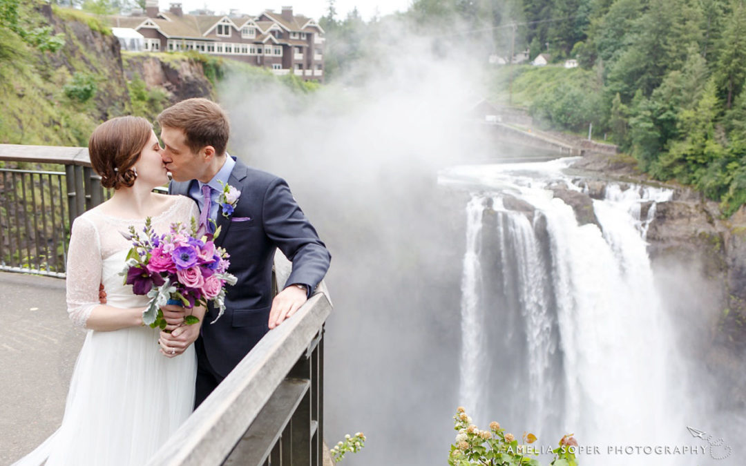 Megan + Matt's Snoqualmie Falls Wedding at Salish Lodge