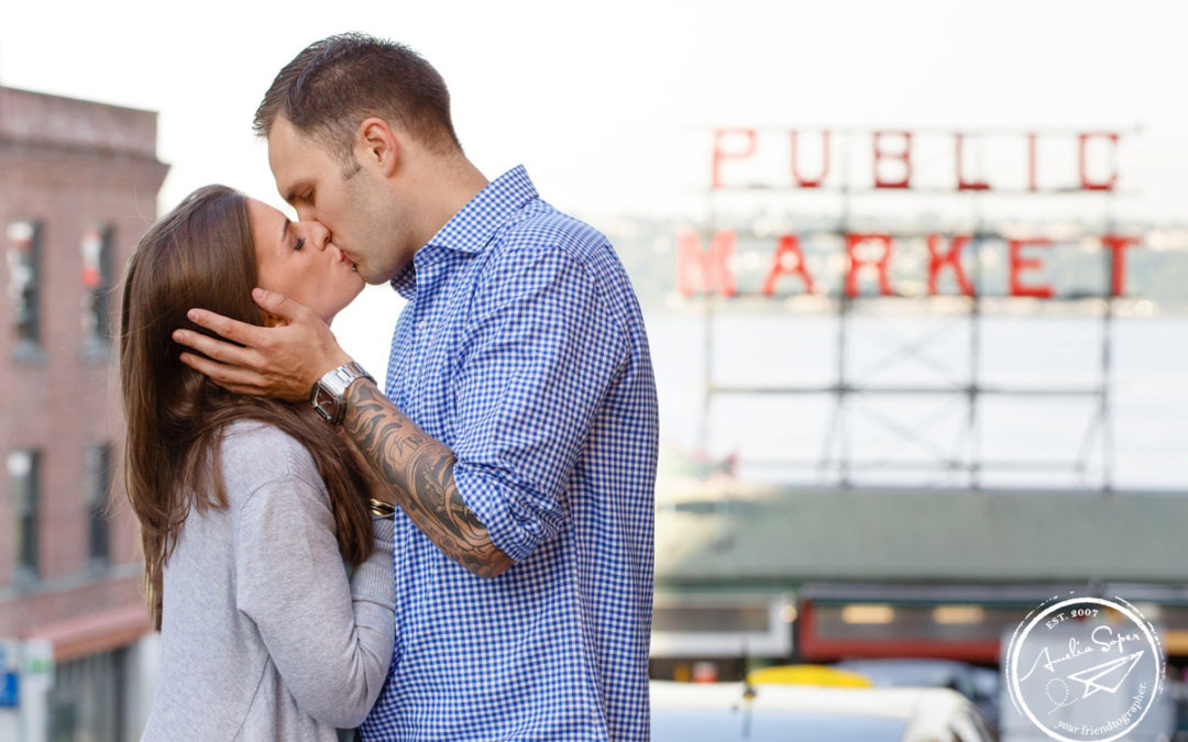 Rachel + Jon's Downtown Seattle Engagement