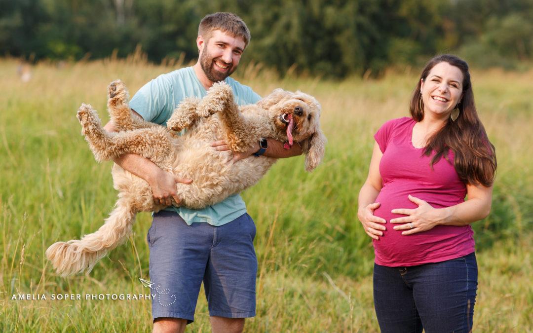 Sarah, Tyler & Bernadette's Marymoor Park Maternity Session