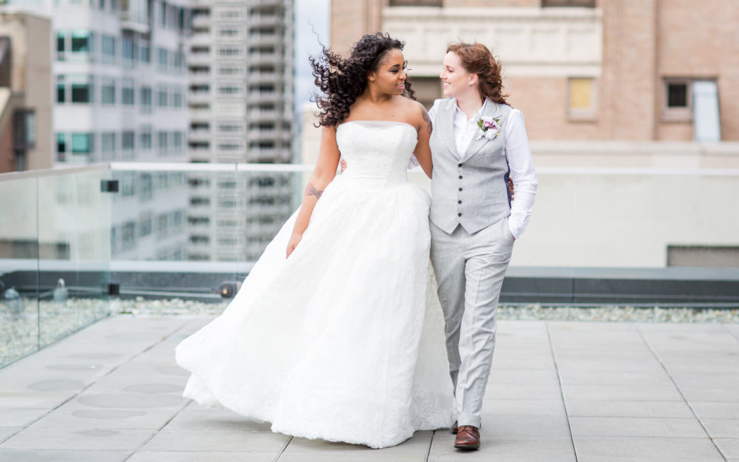 Kate + Jasmine's Thompson Hotel Wedding in Seattle, WA