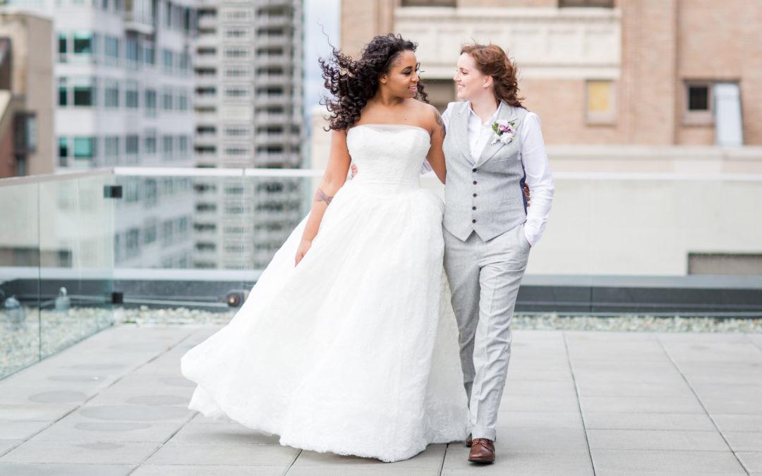 Kate + Jasmine's Thompson Hotel Wedding in Seattle, WA