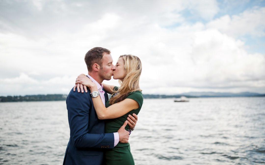 Katie + Josh's Madison Park Engagement in Seattle, WA
