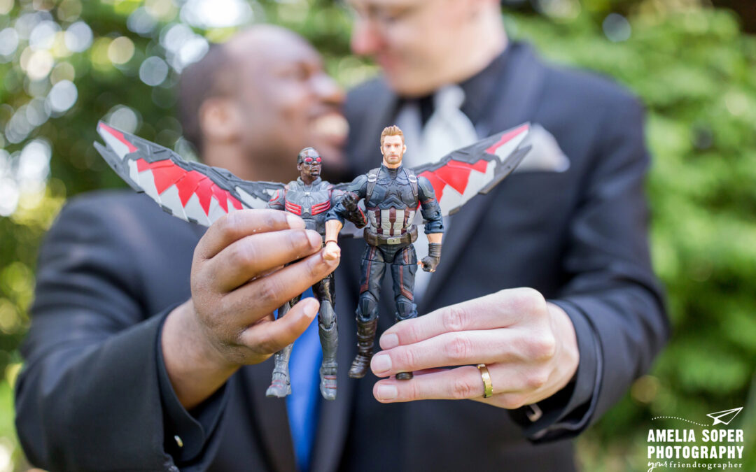 Lincoln and Lane's Sweet and Geeky Backyard Wedding in Bremerton, WA