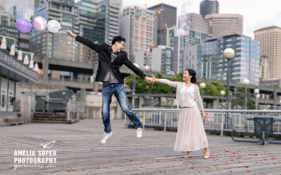 Y & Z's Charming Seattle Waterfront Engagement