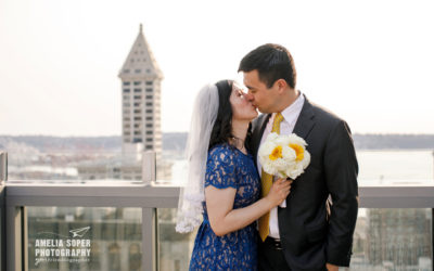 Lin & Gen's Sweet Pioneer Square and Seattle Courthouse Elopement
