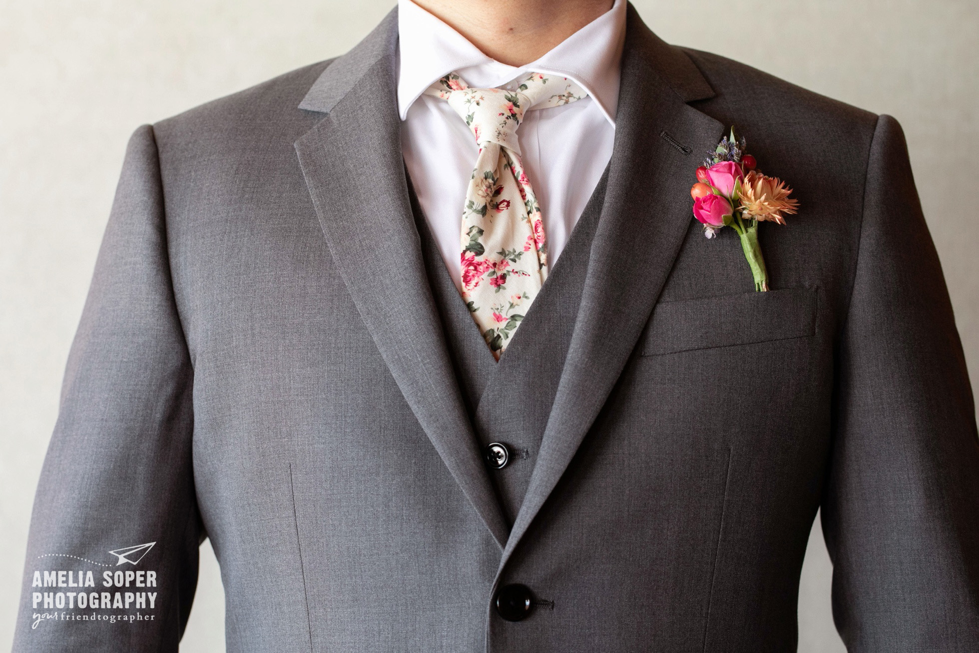 Floral tie, Destination wedding at Semiahmoo resort in Blaine, Washington PNW