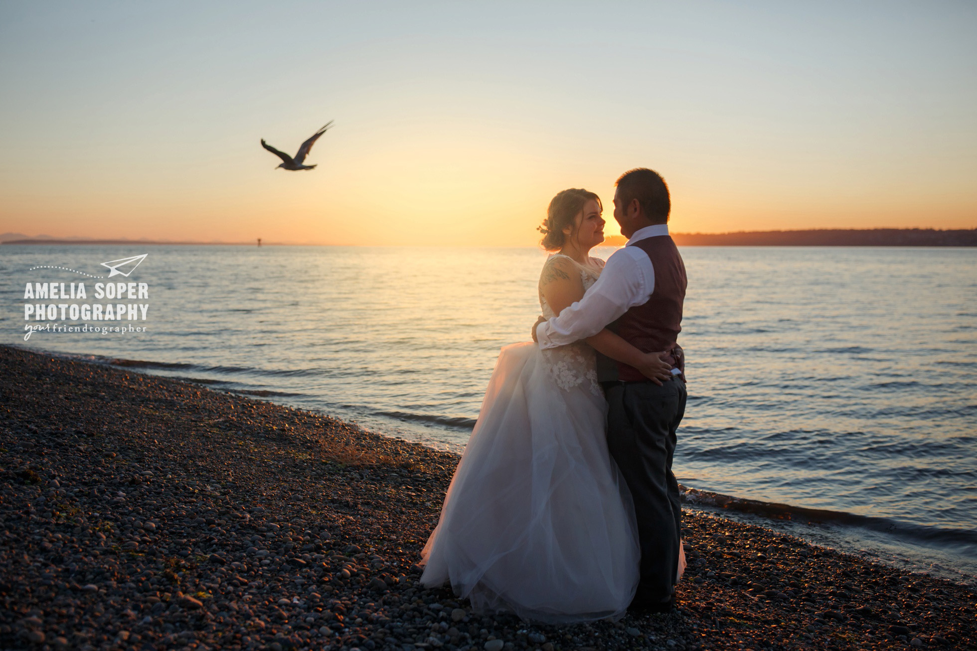 Destination waterfront wedding at Semiahmoo resort in Blaine, Washington PNW