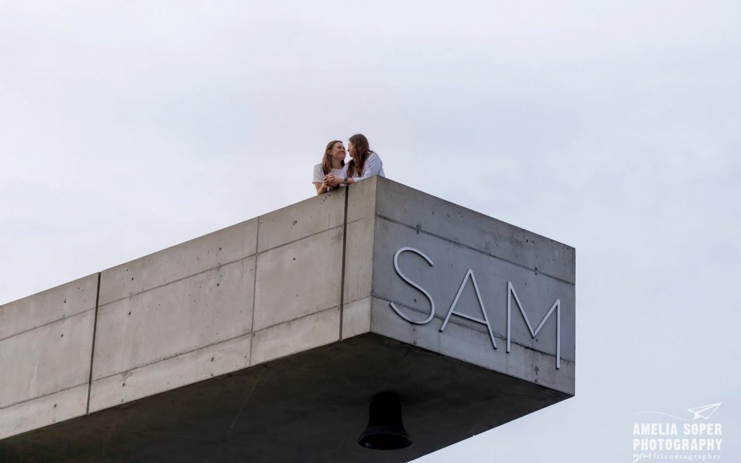 Anna + Hannah's Seattle Engagement at the Olympic Sculpture Park