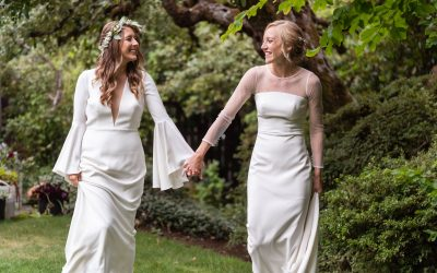 Jill + Lydia's Lush Floral Wedding at Robinswood House