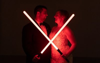 Fun Disney + Star Wars Themed Winter Wedding at Columbia Winery