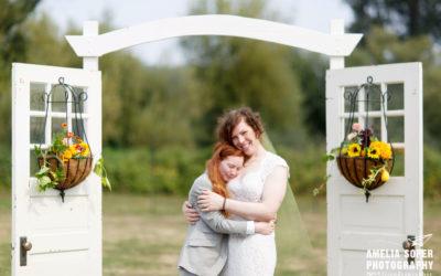 Chloe and Lauren's Carnation Farms Garden Wedding